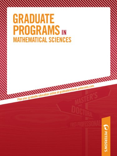 Graduate Programs in Mathematical Sciences