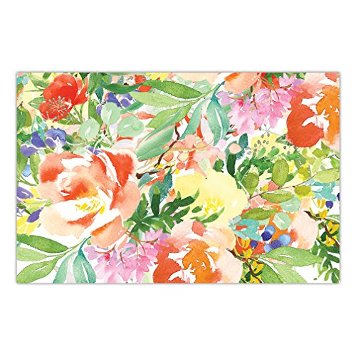 (Paper Place Mats Pack of 25 Gorgeous Colorful Watercolor Flowers Bridal Shower Engagement Graduation Parties Brunch Dinner Easy Cleanup Disposable Table Setting 17