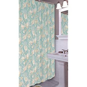 natural shells shower curtain