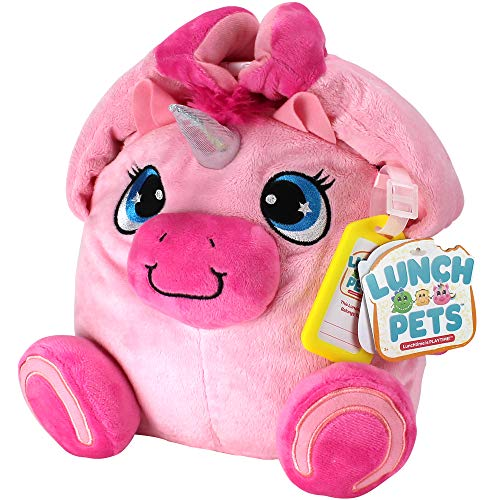 Lunch Pets Amazing, Plush Animal Combination – Yumicorn Style Kids Lunch Box, Travel Size, Pink