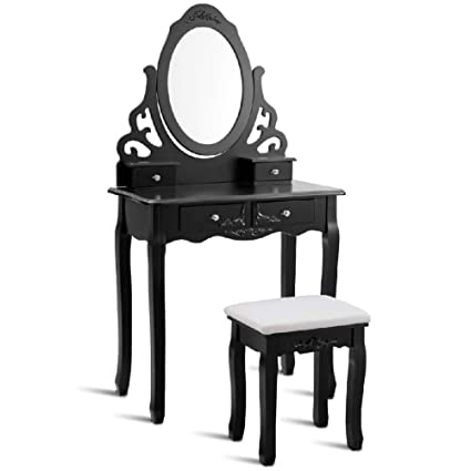 Medium Dressing Table Storage Stool In An Ebony Senso Chenille Fabric
