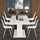 Homycasa Extensible White Dining Table, Easily
