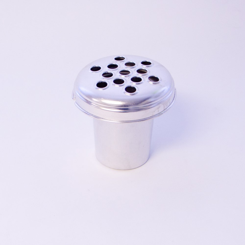 Silver Aluminium Grave Vase Insert 3 Sizes Available (10cm) Smithers Oasis 8440 8441 8442