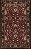 Surya Caesar 2'6'' x 8' Hand Tufted Wool Runner Rug in Red and Black