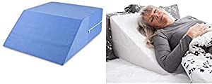 DMI Ortho Bed Wedge Elevated Leg Pillow, Supportive Foam Wedge Pillow, Blue and Wedge Pillow to Support and Elevate Neck