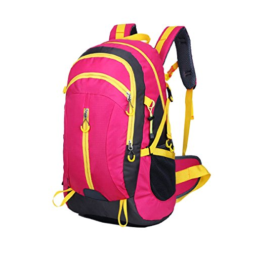 Yy.f Kits Al Aire Libre Montañismo Senderismo Bolsos De Hombro Ocio Viajes Estudiante La Mochila Impermeable Transpirable Multifuncional. Multicolor Red