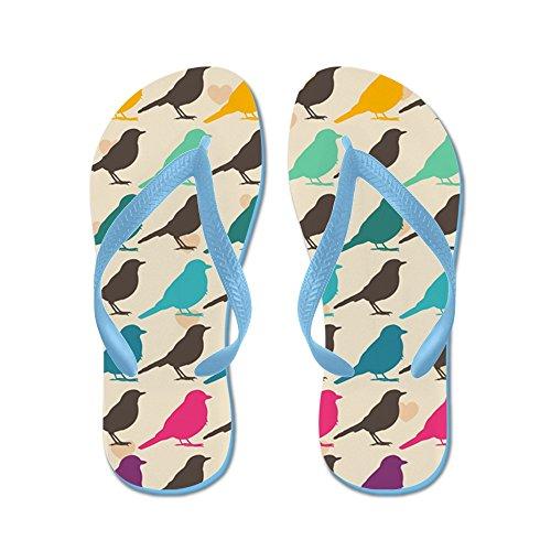 Uccelli Colorati Da Cafepress - Infradito, Sandali Infradito Divertenti, Sandali Da Spiaggia Blu Caraibico