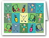 Golf Note Card - 18 Boxed Cards & Envelopes