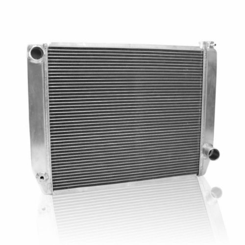 "Griffin Radiator 1-55222-X MaxCool 26"" x 19"" 2-Row Universal Radiator with 1.25"" Tube and Top, Left, Bottom, Right Outlets"