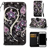 iPhone 7 Case,iPhone 8 Case,Kickstand Wallet Cover with Inner Soft Bumper Shock Proof and Scratch Resistance Full Protective Cover with Credit Card Holder Birthday Gift for Apple iPhone 7-Purple