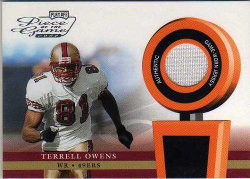 2002 Playoff Game - 2002 Playoff Piece of the Game Materials #50J Terrell Owens Game-Worn Jersey Card