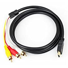 HDMI To 3RCA 3-RCA Video Component Convert Cable
