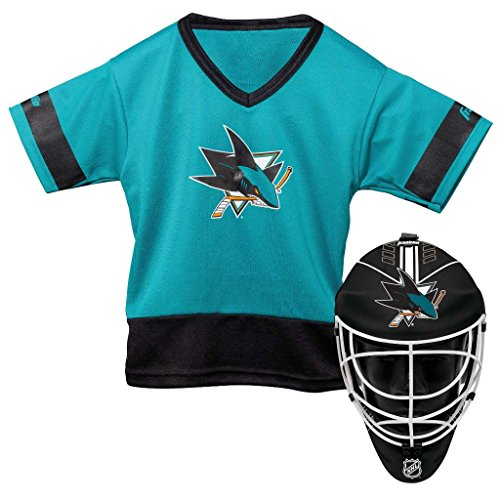 Franklin Sports NHL San Jose Sharks Youth Team Uniform Set, Teal, One Size – DiZiSports Store