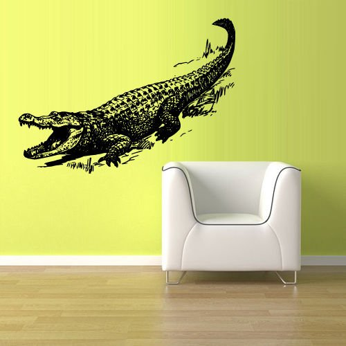 Wall Vinyl Sticker Australia Alligator Crocodile Croc Thailand Skin Wall Mural, Removable Sticker, Home Decor ()