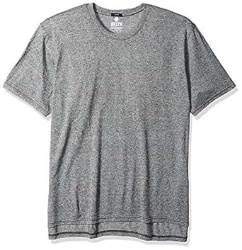 BROOKLYN ATHLETICS Men's T-Shirt Marl Modern Slim Fit Short Sleeve Tee Shirt, Black Marl (Grey), Small