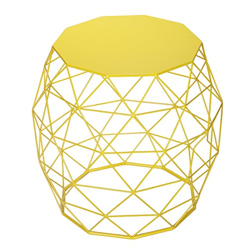 Amazon homebeez wire round iron metal stool side table amazon homebeez wire round iron metal stool side table coffee tablesofa table green garden outdoor keyboard keysfo Image collections