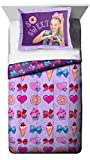 Nickelodeon Jojo Siwa Sweet Life Twin/Full Comforter - Super Soft Kids Reversible Bedding features Jojo Siwa - Fade Resistant Polyester Includes 1 Bonus Sham (Official Product)