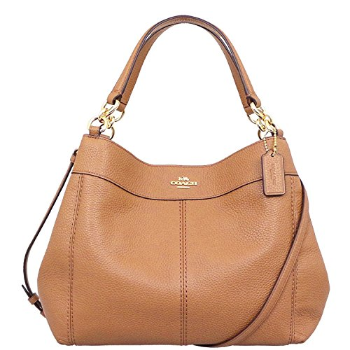 Lexy Saddle Gold Handbag Imitation Bag Small Pebbled Shoulder Light Leather Coach Cntpvq8