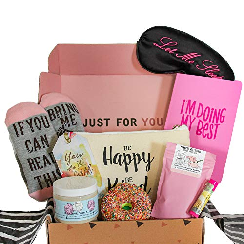 Milky Chic Special Womens Birthday Gift Box Basket Set for Mom Wife Sister Friend Pack of 8 Fun Unique Mothers day gifts