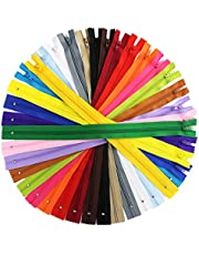 80 Pieces Nylon Coil Zippers, Bantoye 14 Inches #3 Colorful Sewing Zippers Supplies for Tailor Sewing Crafts, 20 Assorted Colors