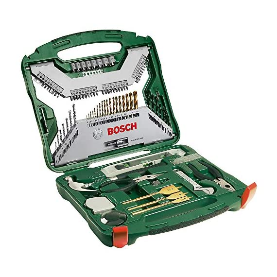 Bosch 2607019331 Titanium Drill and Screwdriver Set (Green and Black, 103-Piece) 1