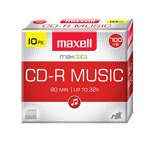 Maxell 625133 Recordable Cd  Slim Jewel