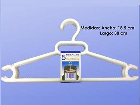 P.TORRENTE Percha Ropa Plastico 37x11 5 Unidades=001164 ...