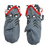 Nolan Boys Shark Ski Mittens Warm Fleece Lined for Winter Snow Toddler 2-4T Grey