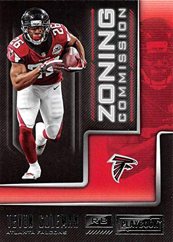 2018 Playbook Zoning Commission Football #22 Tevin Coleman Atlanta Falcons Official NFL Card Produced by Panini