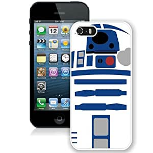 Great Quality iPhone 5 5S Case ,Beautiful And Unique Designed Case With Tar Wars R2d2 Robot White iPhone 5 5S Cover Phone Case