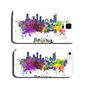 Beijing skyline in watercolor cell phone cover case iPhone5