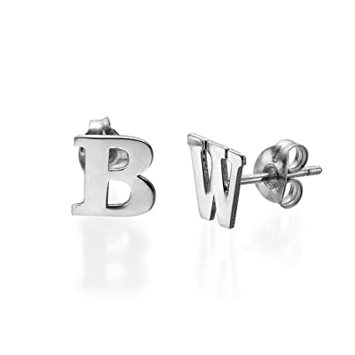 small products solid earrings initial gold belladaar stud
