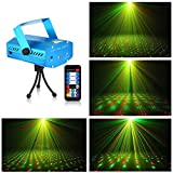 Litake Stage Projector Mini Laser Projection Light Sound Activated Lights with Remote for DJ Club Home Party Christmas Festival Celebration