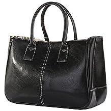 Fashion Story Women Handbag Ladies Hobo Shoulder Bag Large Compartment (Black)
