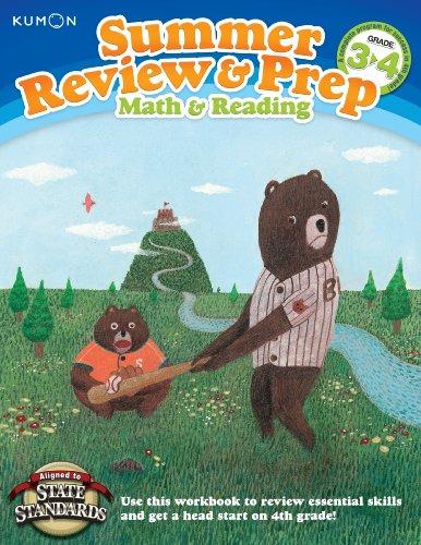 Kumon Summer Review & Prep Workbooks 3-4