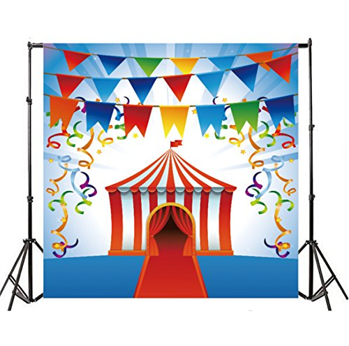 Yeele 4x4ft Circus Performing Photo Backdrops Vinyl Stage Entrance Shed Photography Background Arena Decoration Baby Shower Boys Newborn Birthday Party Adults Photo Video Shoot Studio Props]()