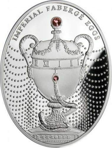 2011 PL Niue 2011 2$ Imperial Faberge Eggs Duchess of Marlborough Egg 56,56g Silver Coin With Certificate 2 Dollars Proof Mint