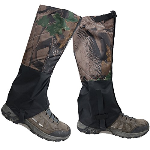 AMYIPO Unisex Snow Leg Gaiter, Front Opening Velcro - Camouflage Leg Gaiters