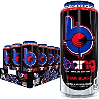 Bang Star Blast Energy Drink, 0 Calories, Sugar Free with Super Creatine, 16oz, 12 Count