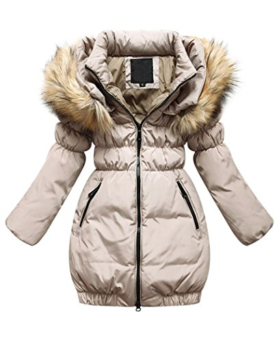 Lang Kunstpelz Mädchen Tailliert Jacket Winterjacke Mit Parka Wintermantel Oberbekleidung Winter Mileeo Kinder Mantel 29EHWDI