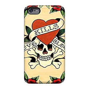 Apple Iphone 6 OvA3spZd Allow Personal Design Stylish Ed Hardy Skin Best Cell-phone Hard Cover -DeanHubley