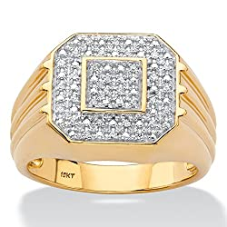 10K Yellow Gold Genuine Diamond Ring