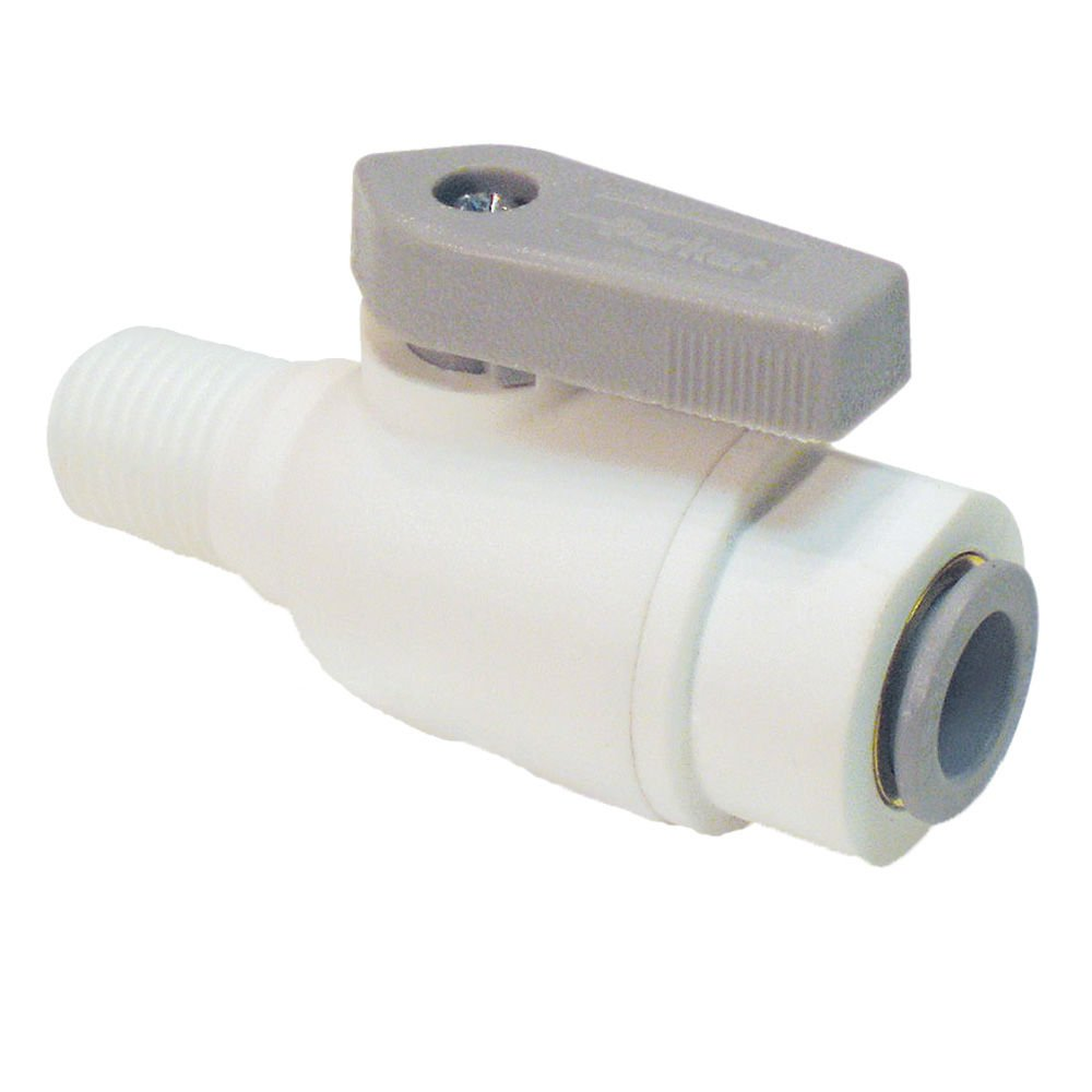 Pack of 5 Parker LFPP6VMC4-pk5 Ball Valve Push-to-Connect Connector Tube to Pipe 3//8 Polypropylene