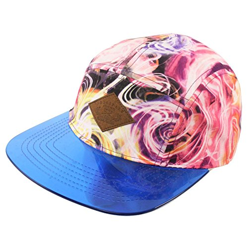 Men's Summer Cool Clear Visor Galactic Outer Space Snapback Cadet Cap Hat Purple