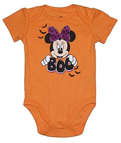 Disney Minnie Mouse BOO Halloween Baby Girls Bodysuit (Newborn) -