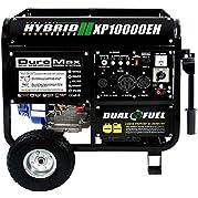 DuroMax 10000 Watt Hybrid Dual Fuel Portable Gas Propane Generator - RV Standby