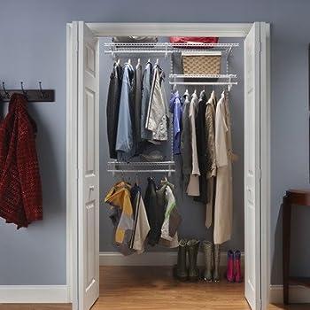 ClosetMaid 22873 ShelfTrack 4ft. To 6ft. Adjustable Closet Organizer Kit,  White