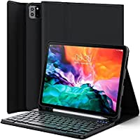 Keyboard Case for iPad Air 4th Generation 2020 10.9 inch/iPad Pro 11 inch 2020 & 2018 – Leather Folio Smart Cover with…