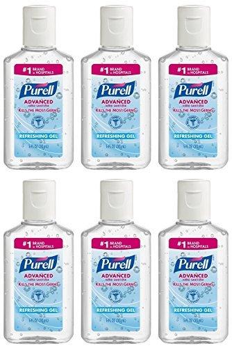 Travel Hand Sanitizer - Purell Advanced Hand Sanitizer Refreshing Gel, 1 Fl Oz (6-Pack)