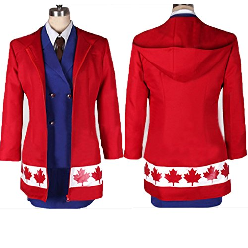 HOLRAN Axis Powers Hetalia Canada Gender ver Cosplay Costume-Made (Female:XX-Large)
